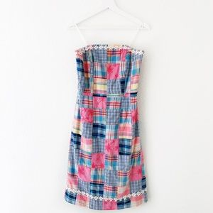 Lilly Pulitzer Patch Work Daisy Sleeveless Dress